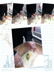 Steps to wrap popiah
