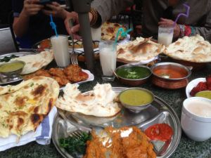 Nepalese restaurant with Indian naan