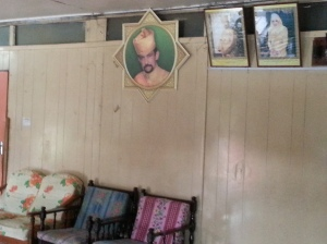Photo of Sultan and his Queen displayed in the common (shared) living area