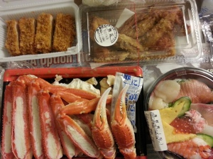 Take-out bought from basement of Takashimaya department store