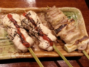Yakitori- grilled meat in skewers