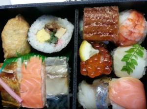 Sushi in bento boxes