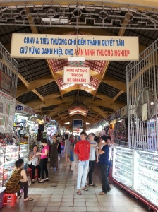 Shopping at Ben Thanh Market in District 1. Must bargain.