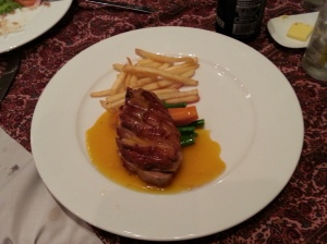 Really good Canard a l'orange at Augustin