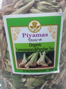 Dried lemongrass and pandan tea
