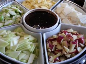 Sarawak fruit rojak or salad