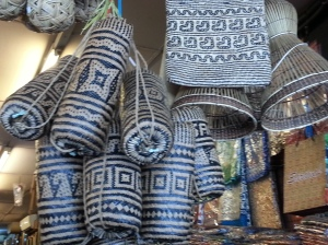 Local hand-woven bags as sourvenirs