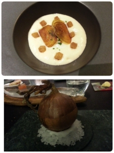 My favourite. Sweet onion soup served with sous vide farm egg