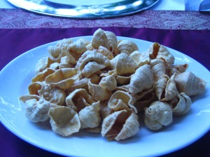 Sea-shell papadum
